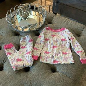 Girls dinosaur pajama set